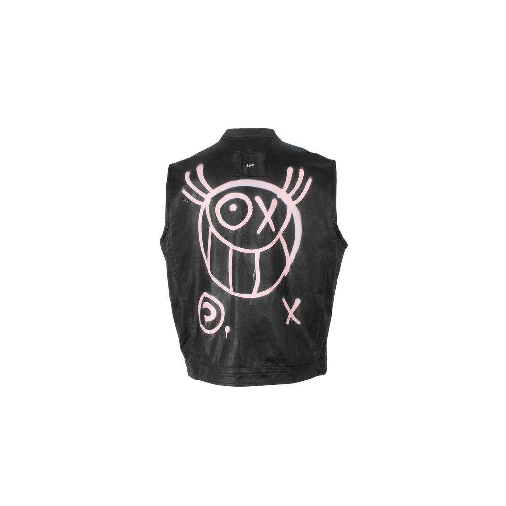 Sami Miro Vintage x André Saraiva Exclusive Embellished Leather Vest - Custom One of One