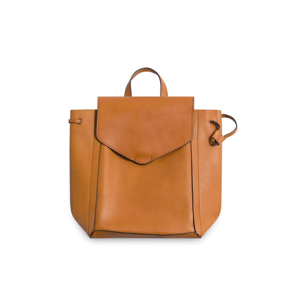 Loeffler Randall Vachetta Leather Backpack - Orange