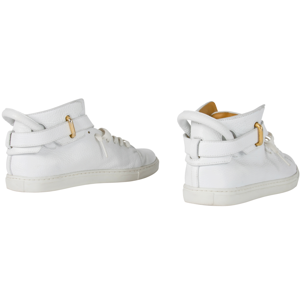Buscemi 100mm Buckle high-top leather trainers