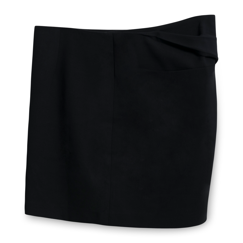 Halston Heritage Crepe Mini Skirt