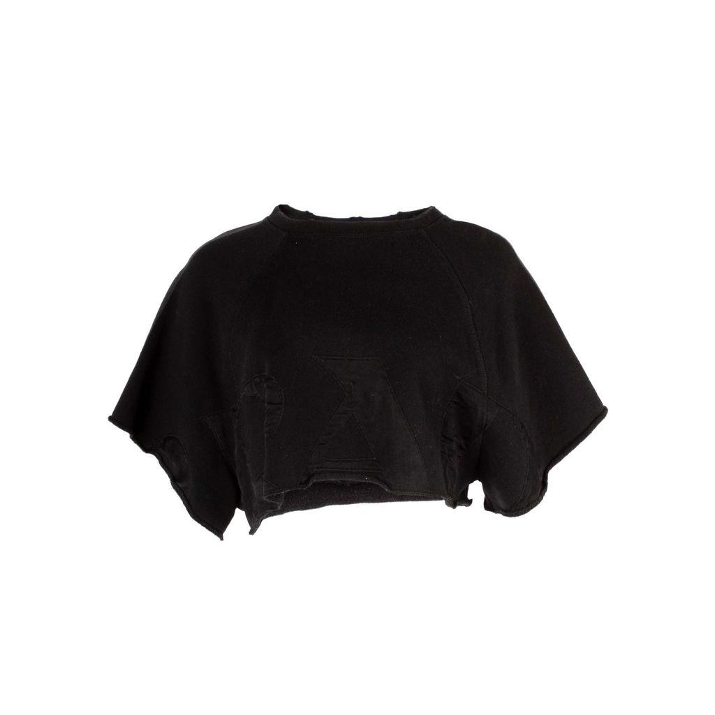 Prada Cropped Raglan Sweater