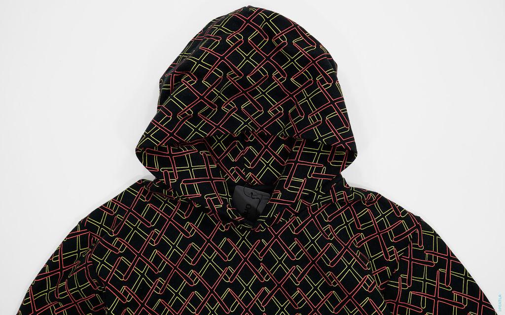 OriginalFake All X Print Pullover Hoodie