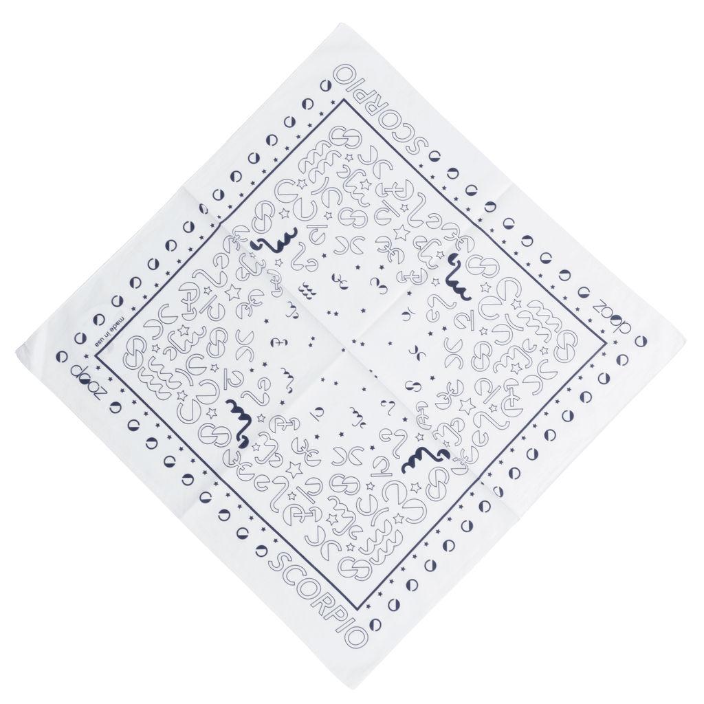 DOOZ Scorpio Bandana + Keychain Set in White