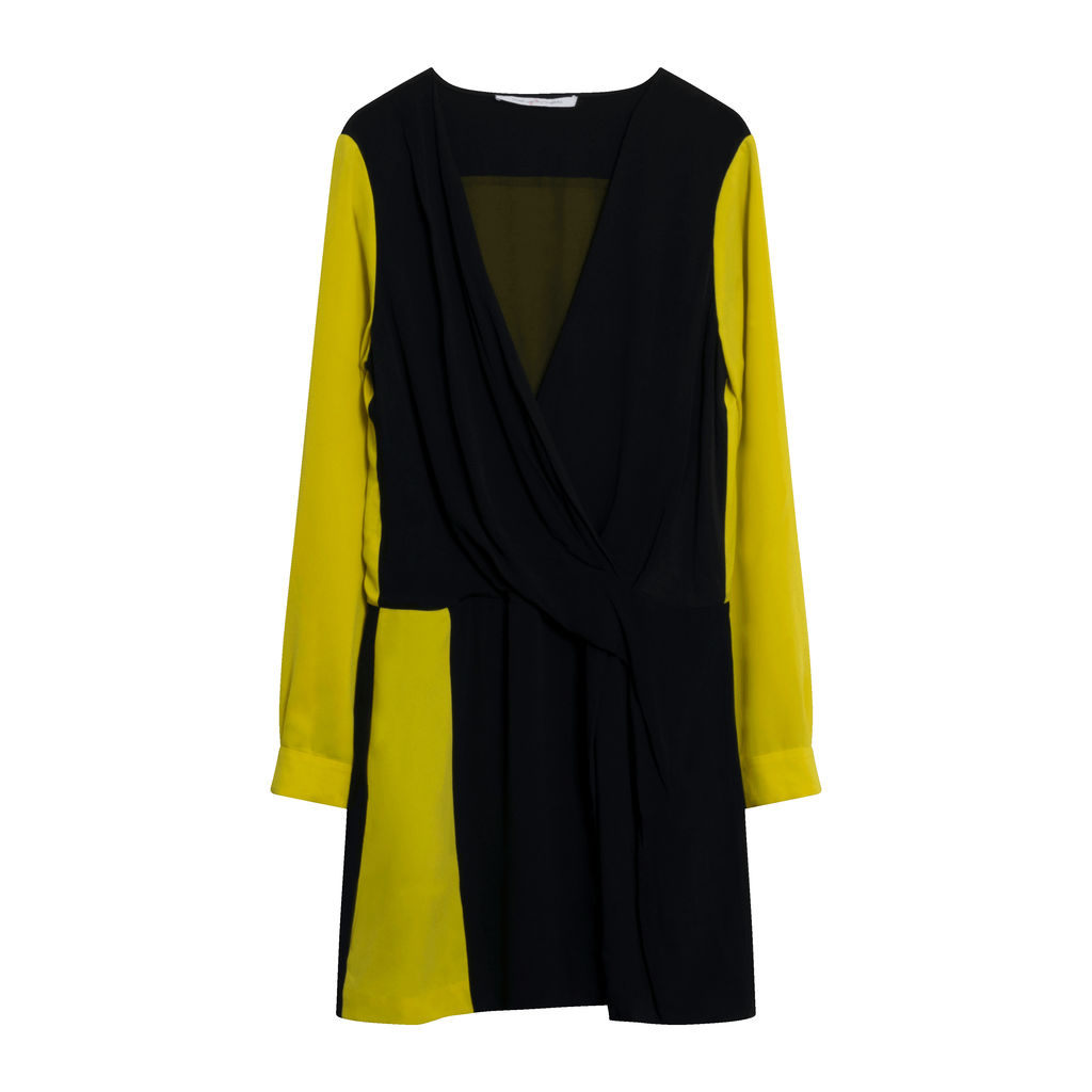 Diane Von Furstenberg Yellow & Black Dress