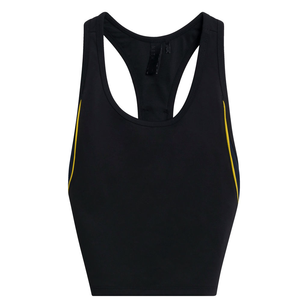 Kith Tank Sports Bra in Black/Yellow
