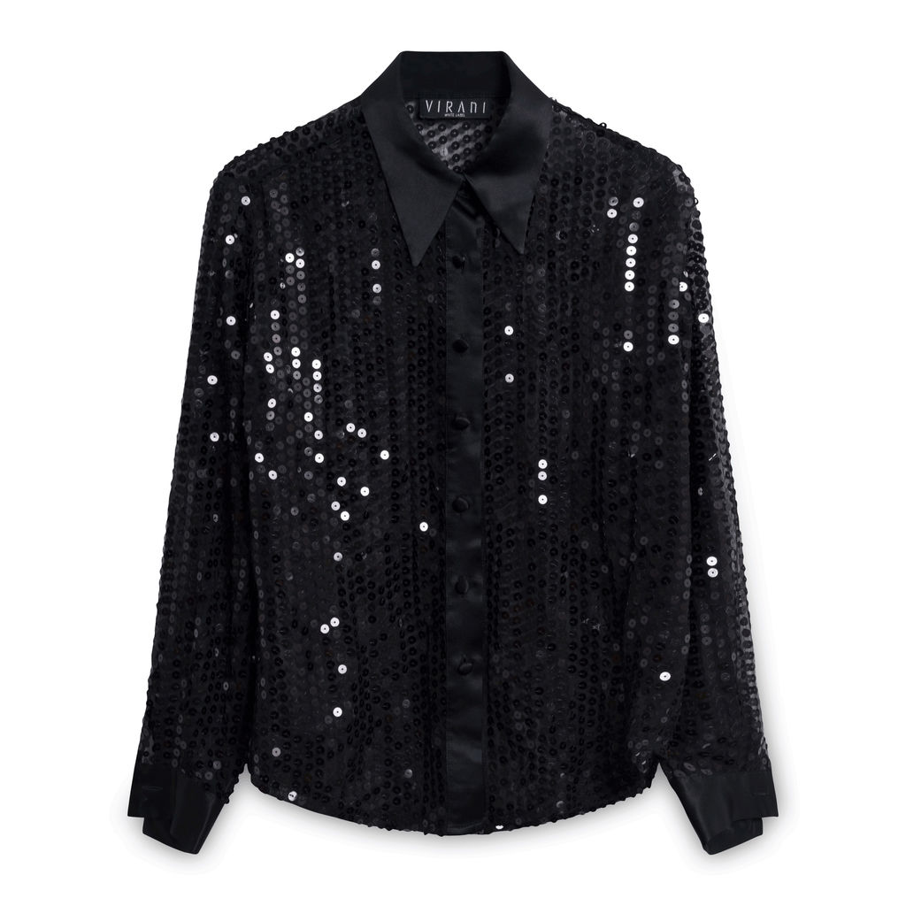 Virani Black Sequin Shirt