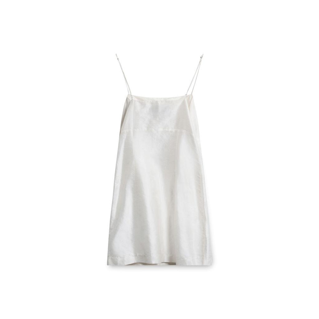Realisation Christy Ivory Silk Mini Dress