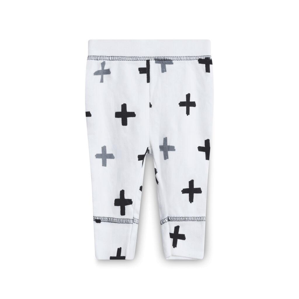White Cross Pants