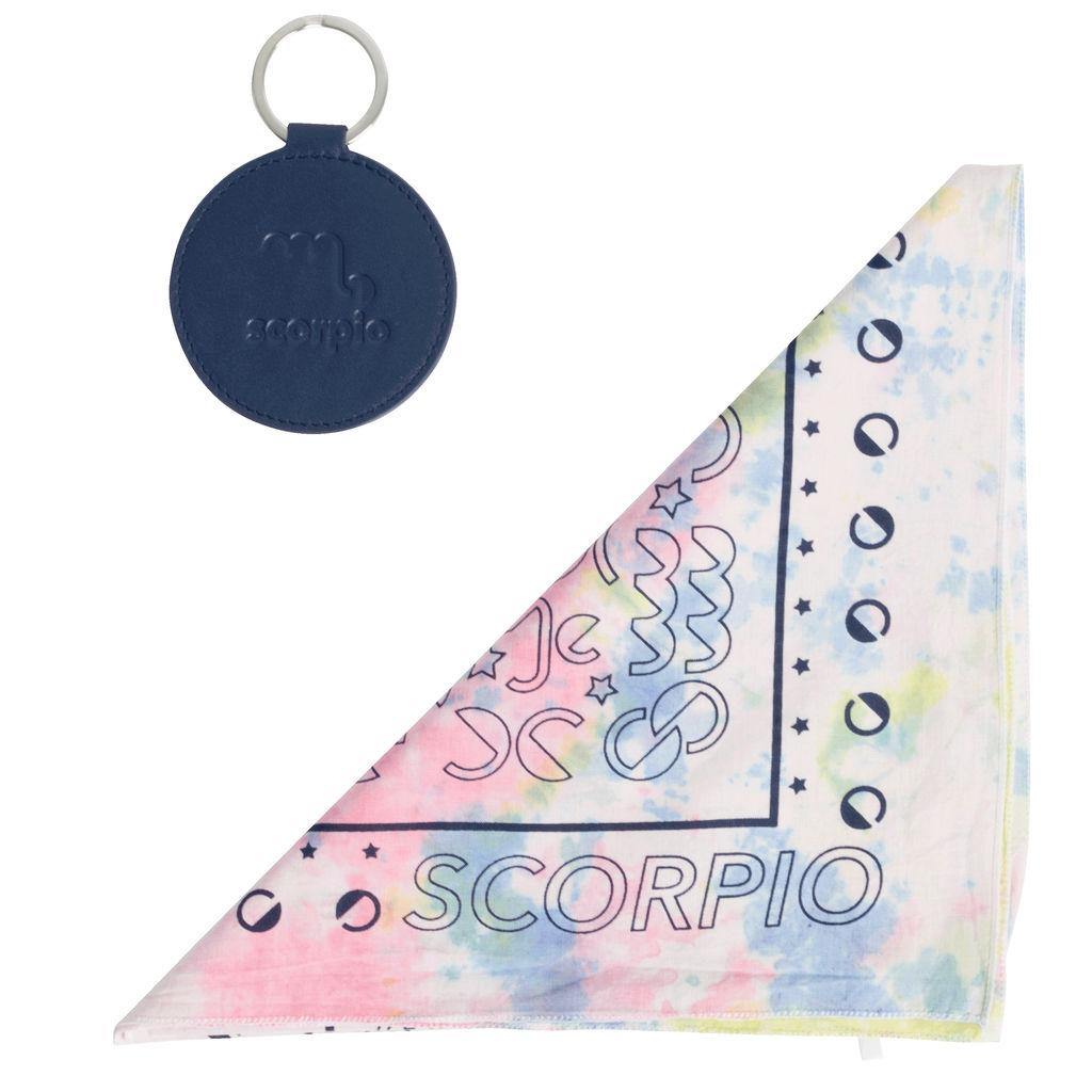 DOOZ Scorpio Bandana + Keychain Set in Tie Dye