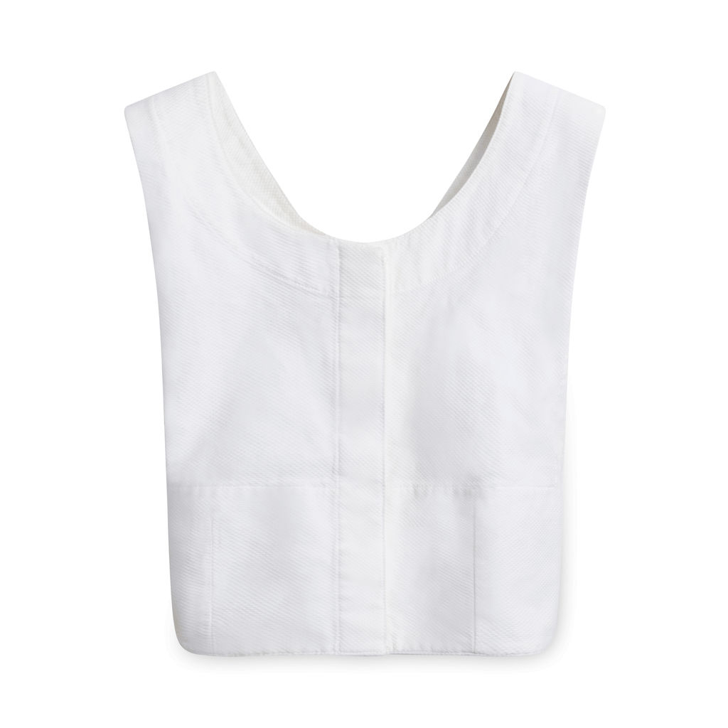 Alaia White Cotton Top
