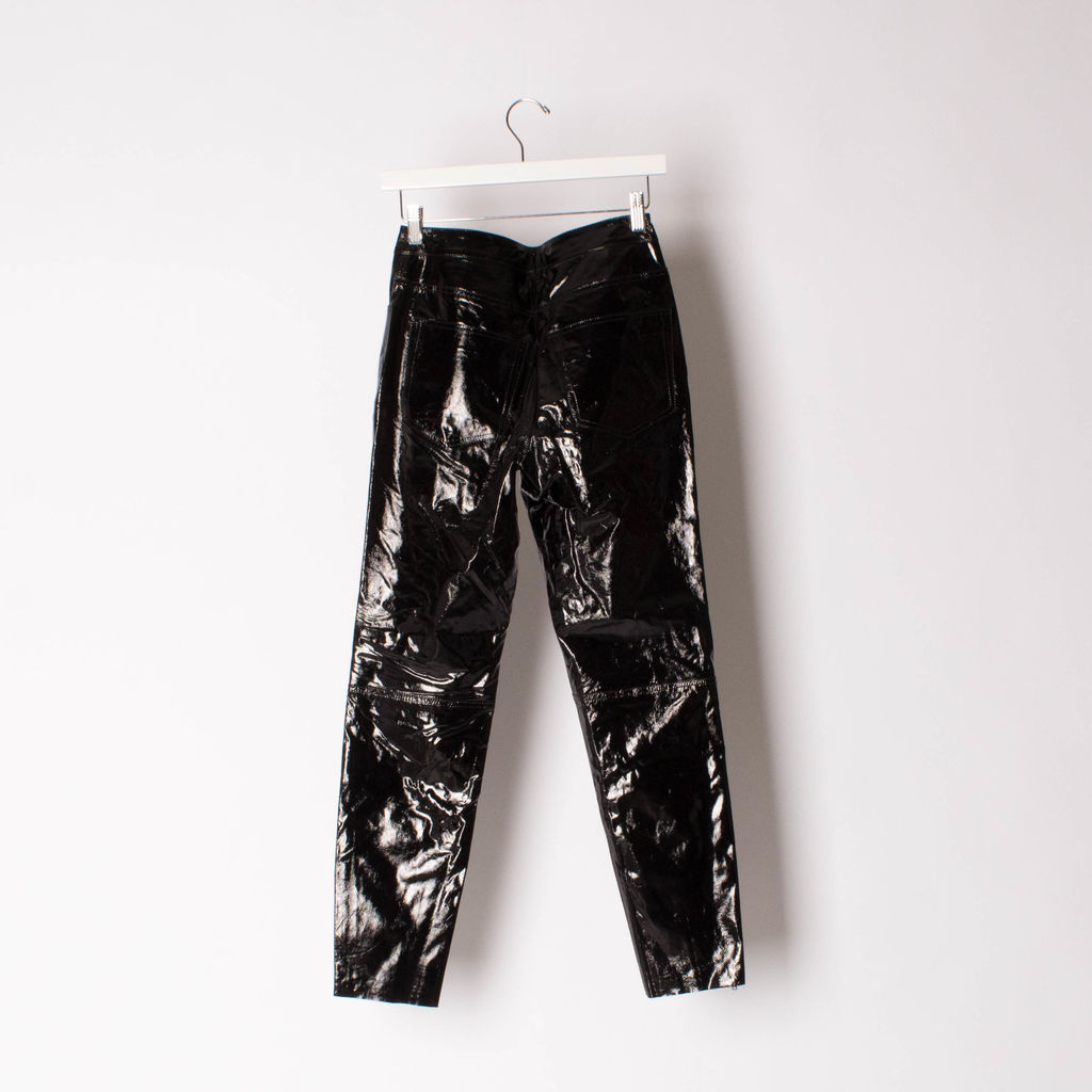 Gestuz Nima Patent Leather Pants curated by Alana Hadid