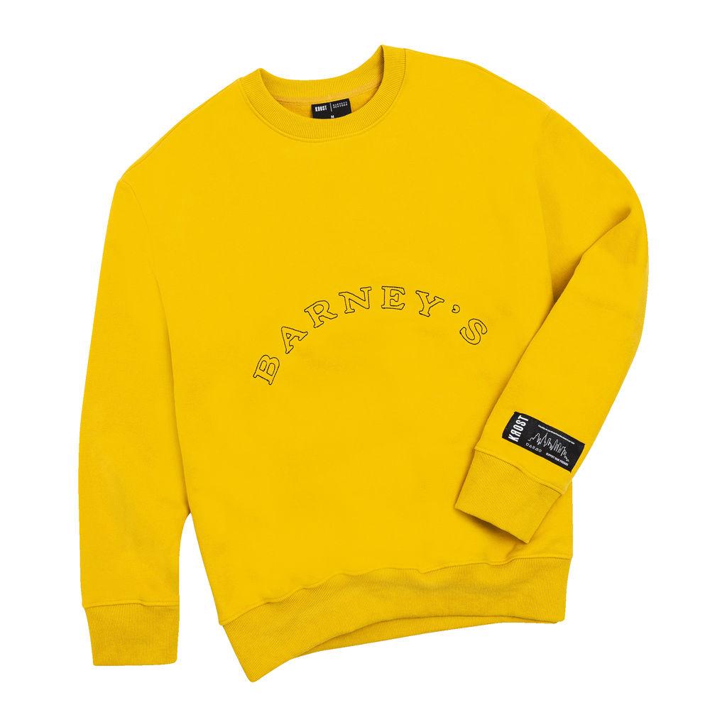 KROST x Barneys Giving Tree Crewneck in Yellow