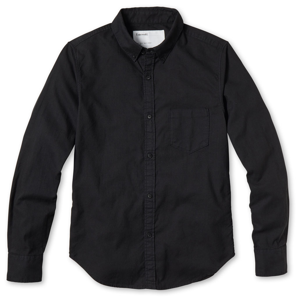 Entireworld Organic Cotton Oxford Shirt - Black