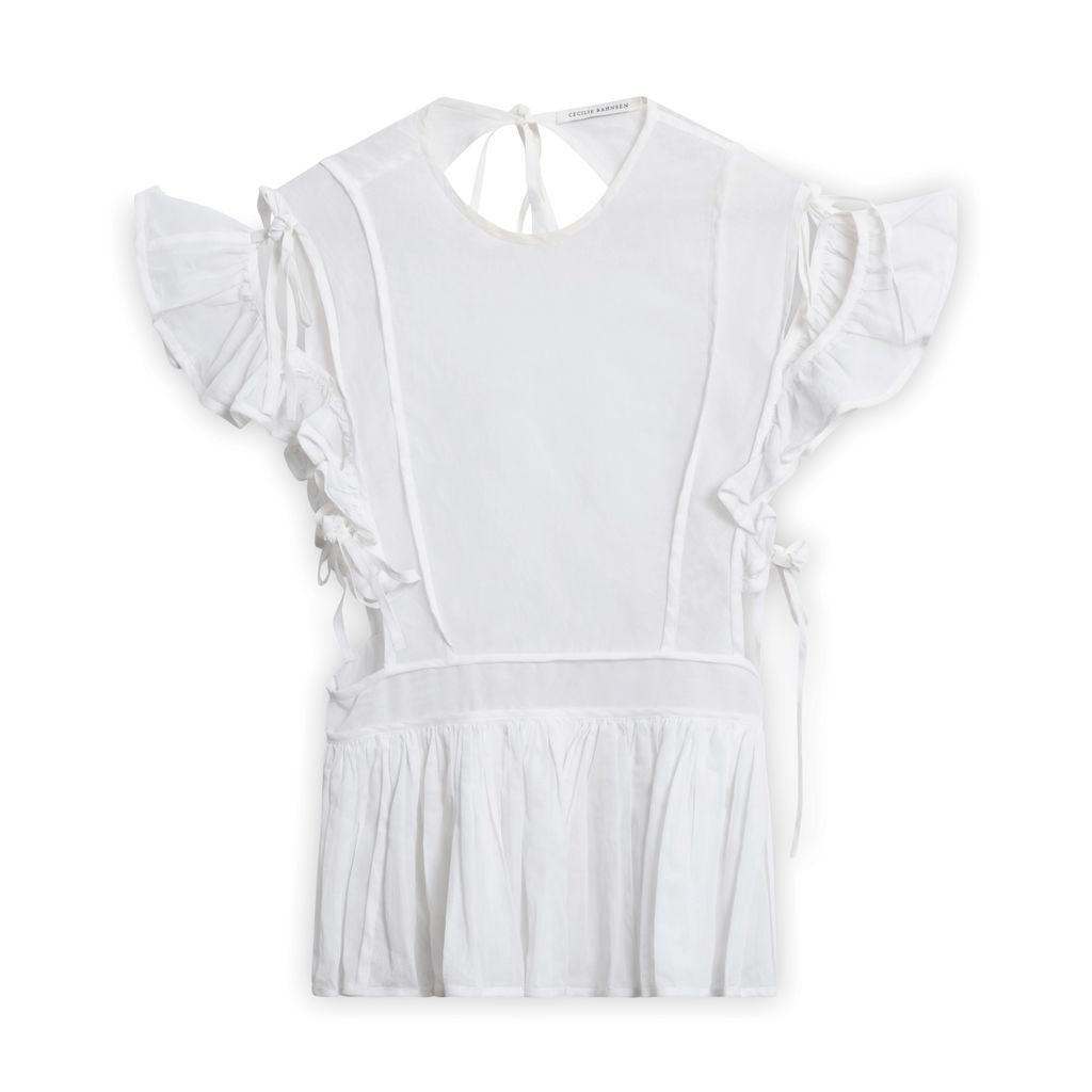 Vintage Cecille Bahnson Tie Blouse - White