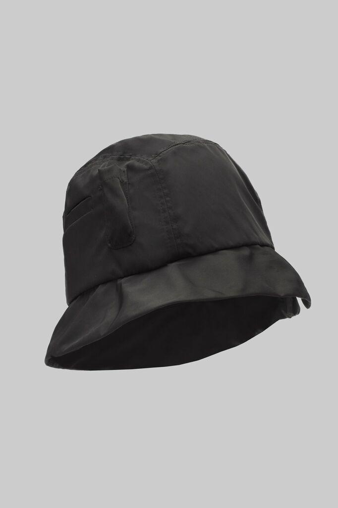 Black Nylon Bucket Hat