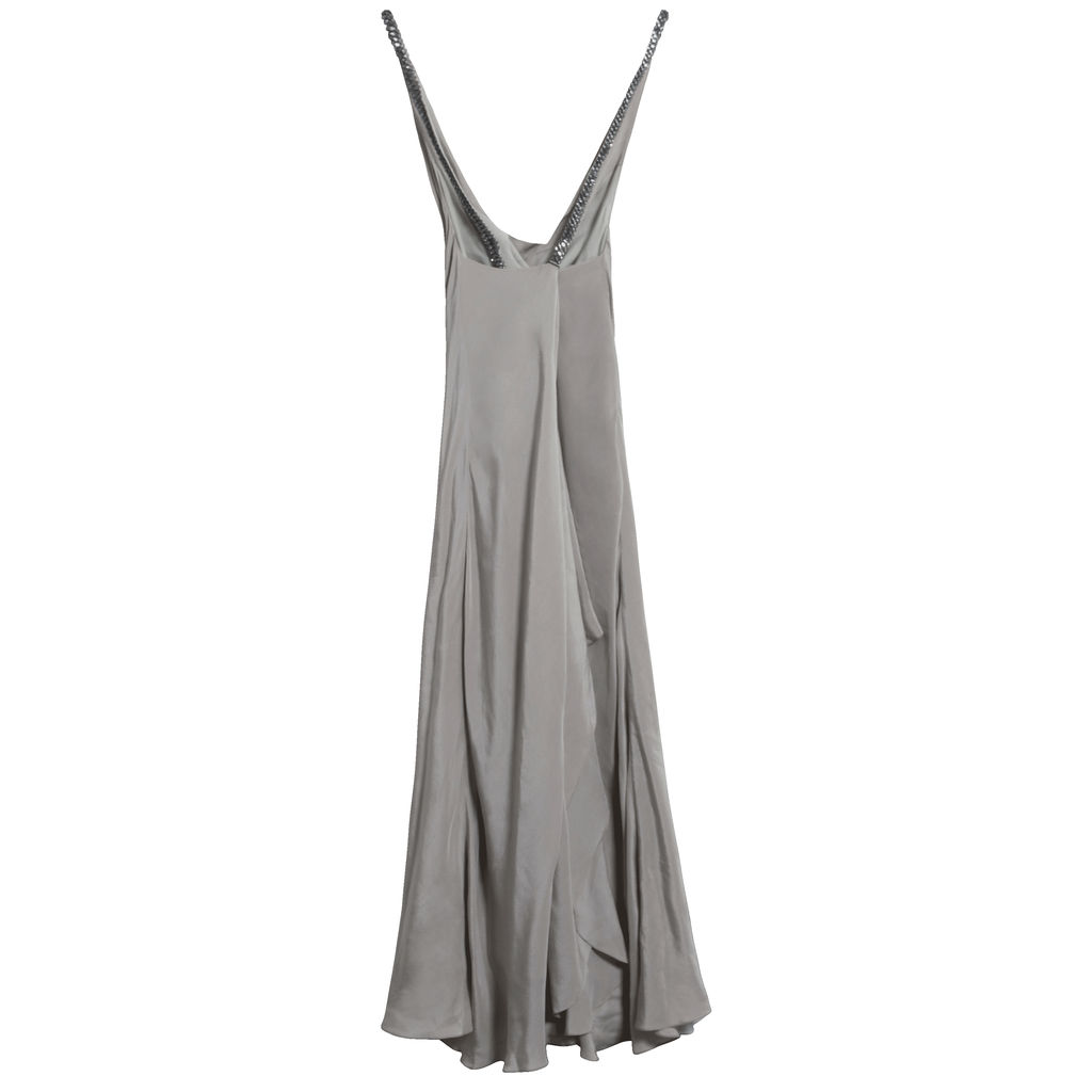Azeeza Reeves Embellished Silk Sleeveless Gown