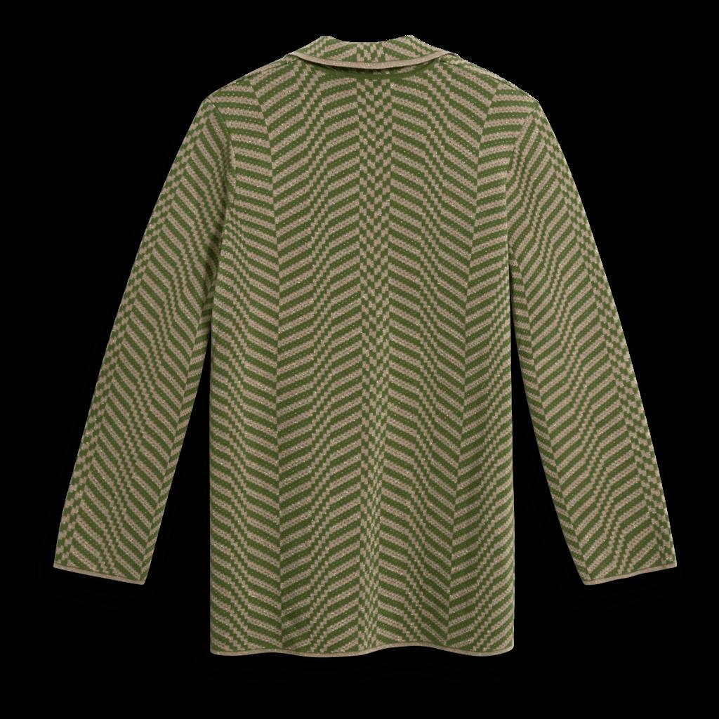 Clea Stuart Straight Khaki Metallic Blazer