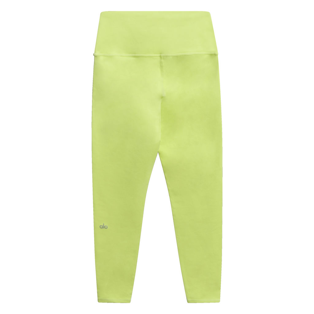 Alo 7/8 High Waist  Airbrush Leggings in Yellow