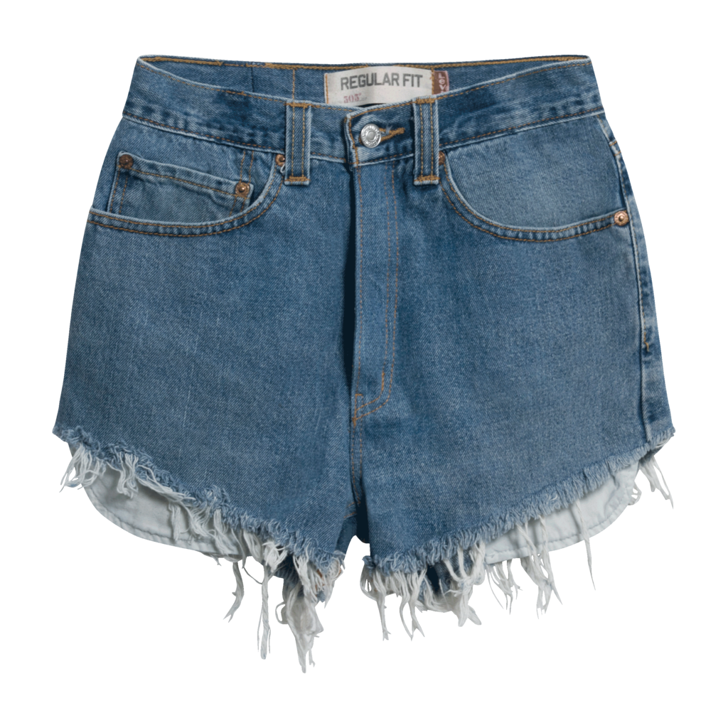 Levi's Vintage 505 Cut-Off Denim Shorts - Medium Blue
