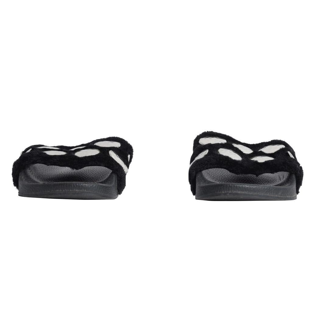 Maje Paris Studded Flat Slides - Black