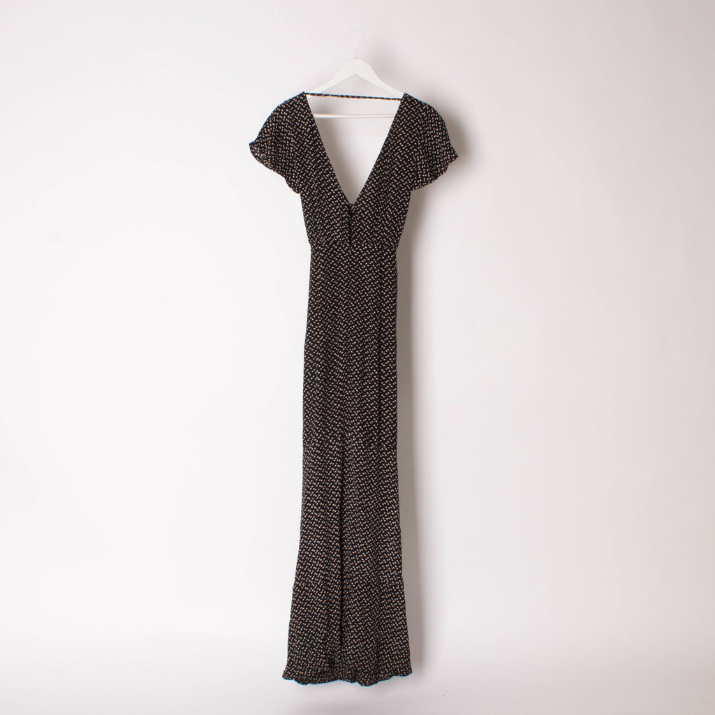 Ebony Eve Black Pretty Petal Maxi Dress