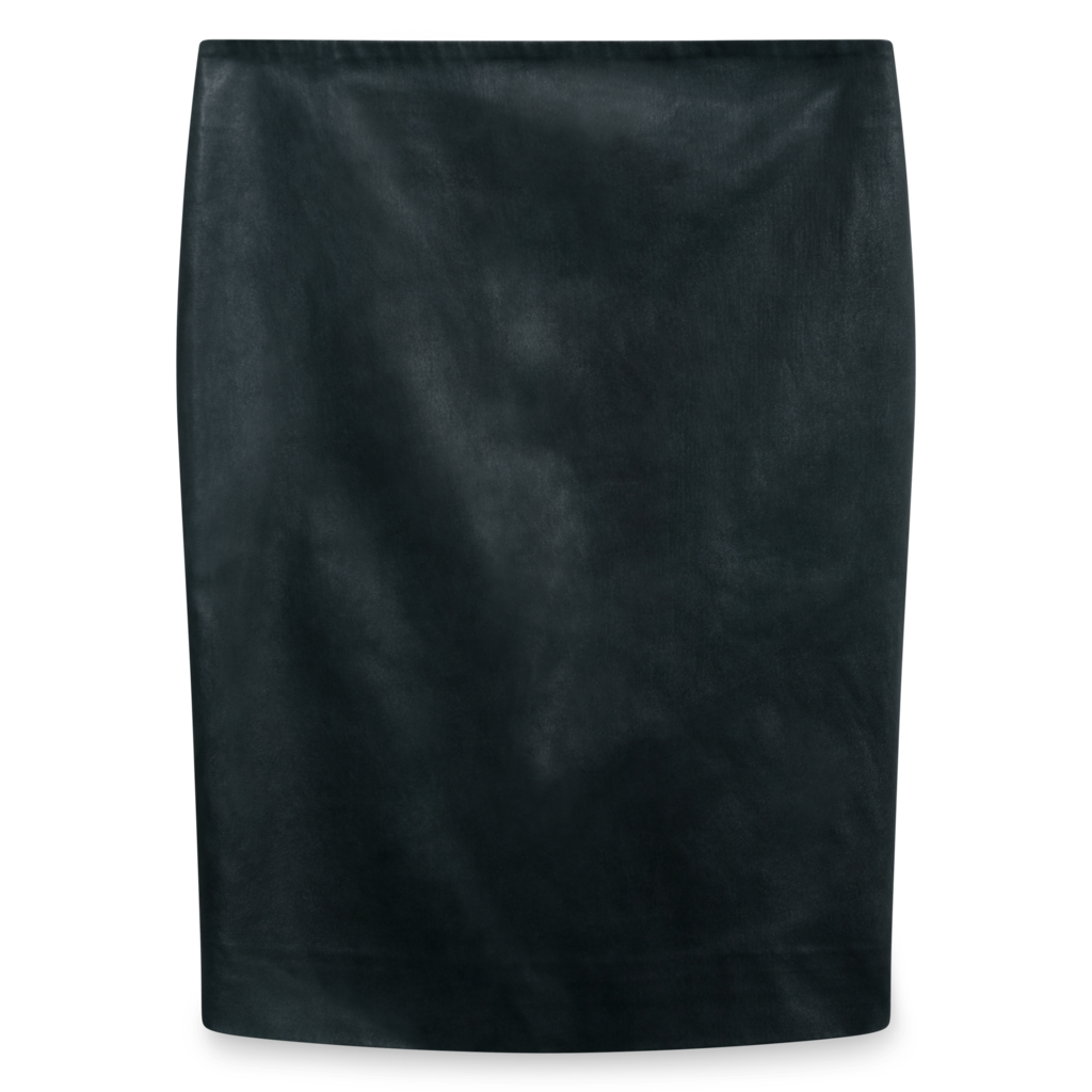 The Row Loattan Stretch Leather Black Mini Skirt