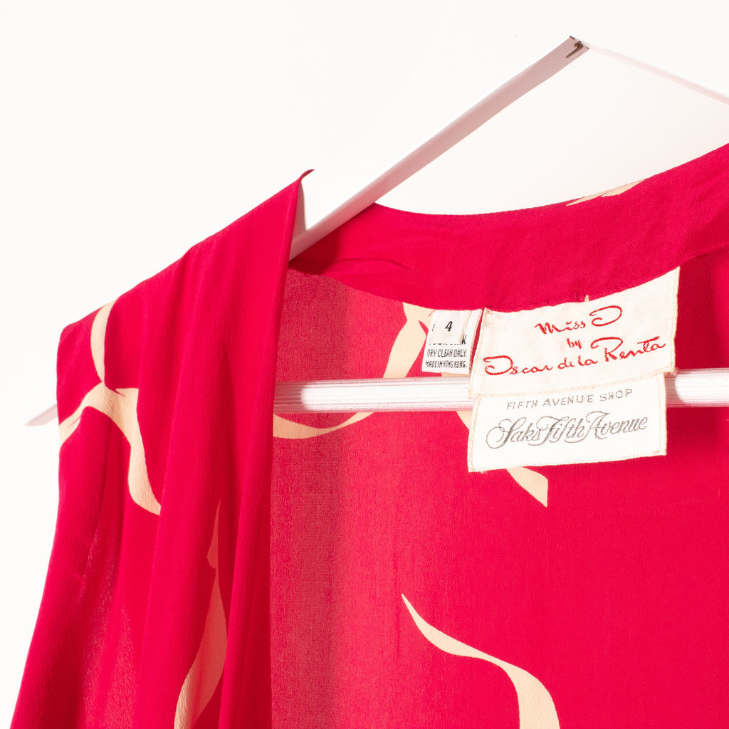 Vintage Silk Set from Miss O by Oscar de la Renta