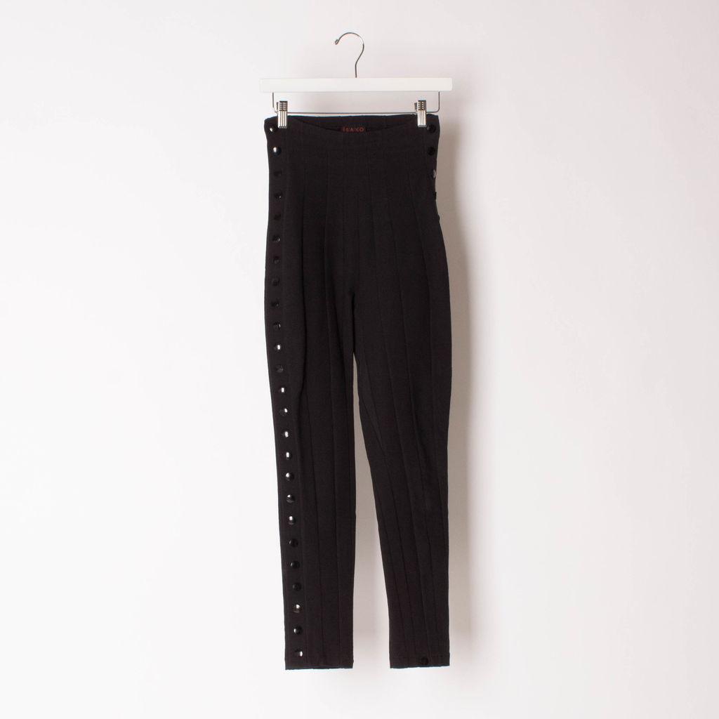 Vintage Saxo Paris High-Waist Stretch Trousers