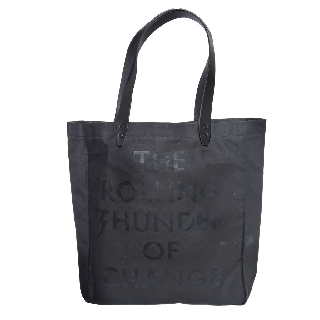 Waxed Cotton Tote Bag