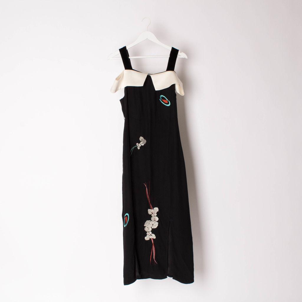 RIXO London Black Chloe Midi Dress