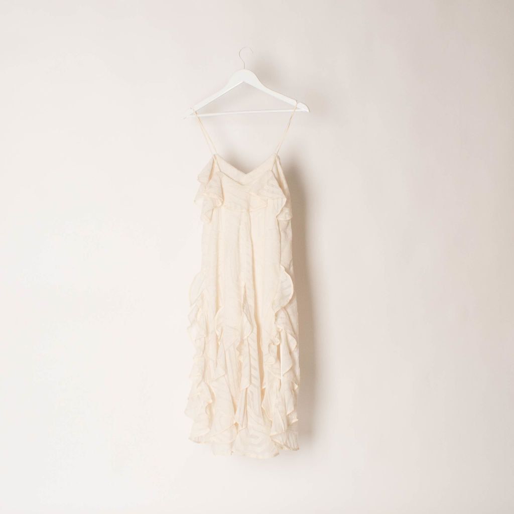 Acler Ruffle Midi Dress