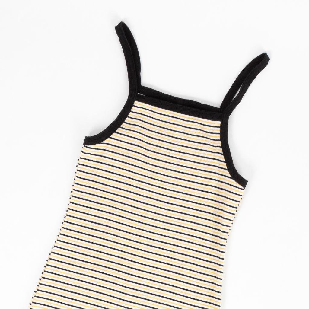 Monki Apron Style Striped Mini Dress