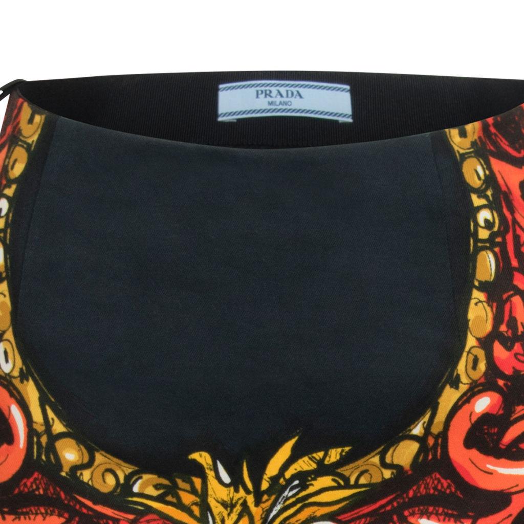 Prada SS11 Printed Trumpet Skirt