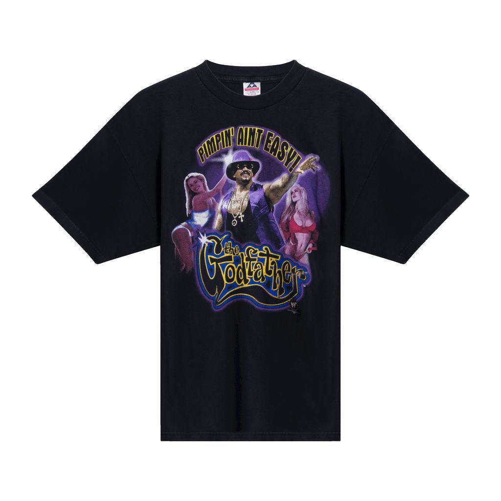Vintage WWE Pimpin' Aint Easy T-shirt - Black