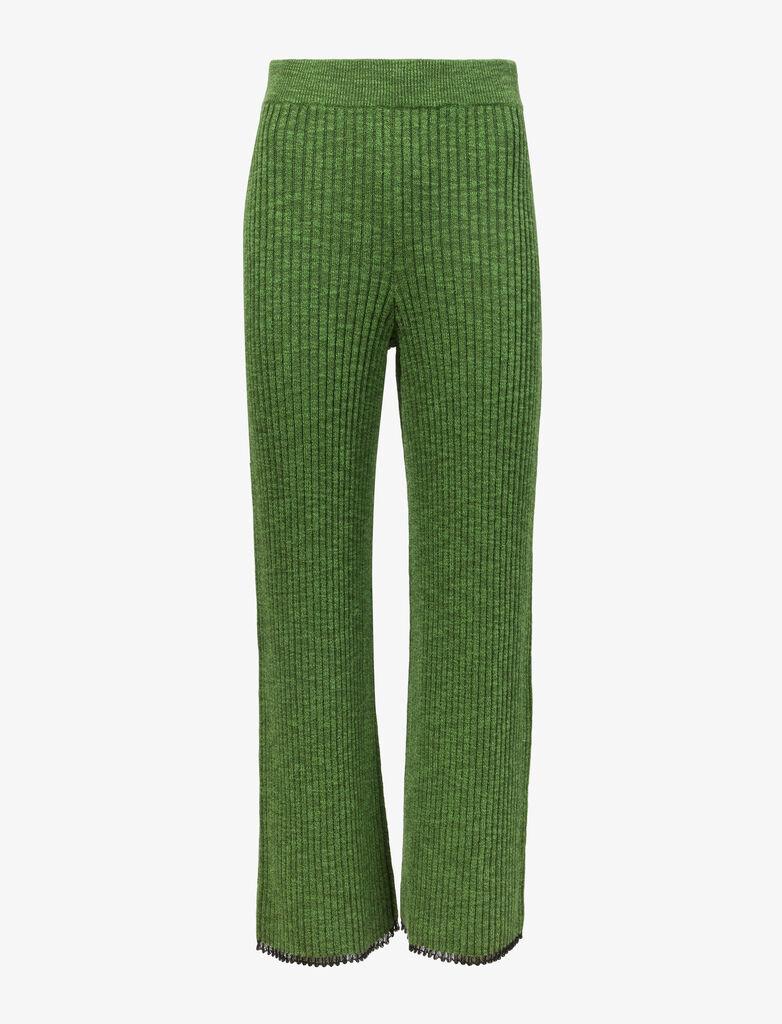 Fine Gauge Rib Knit Pants