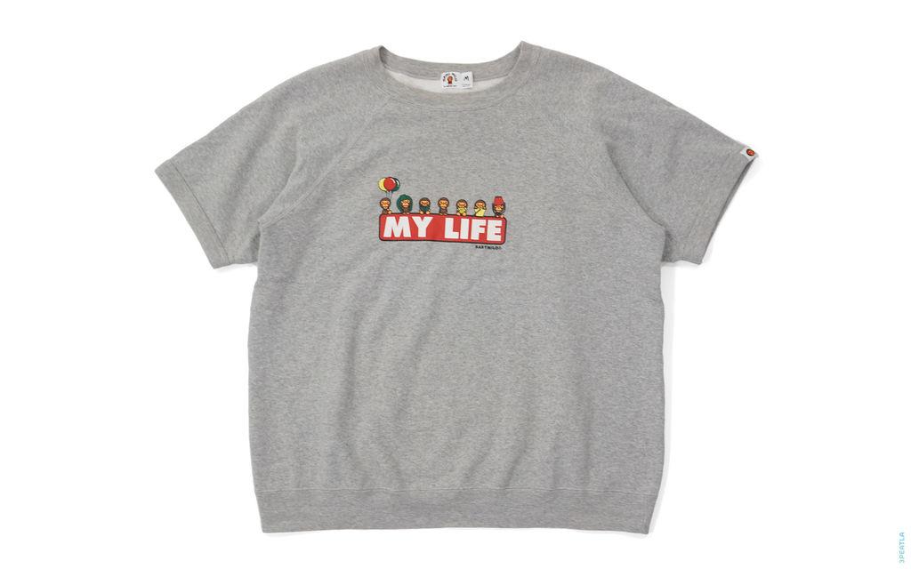 BAPE Milo My Life Short Sleeve Crewneck Sweatshirt grey