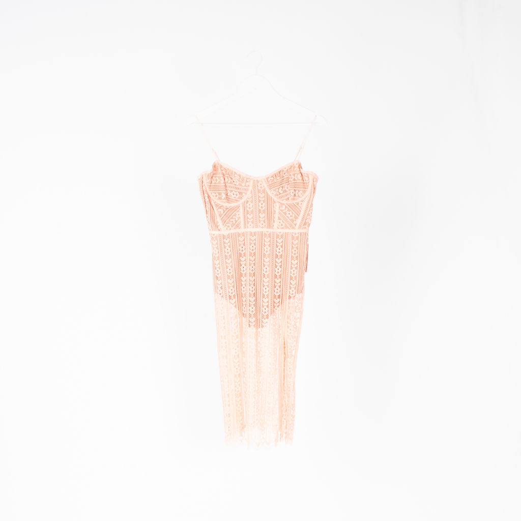 For Love Lemons Dakota Lace Midi Dress By Georgie Flores