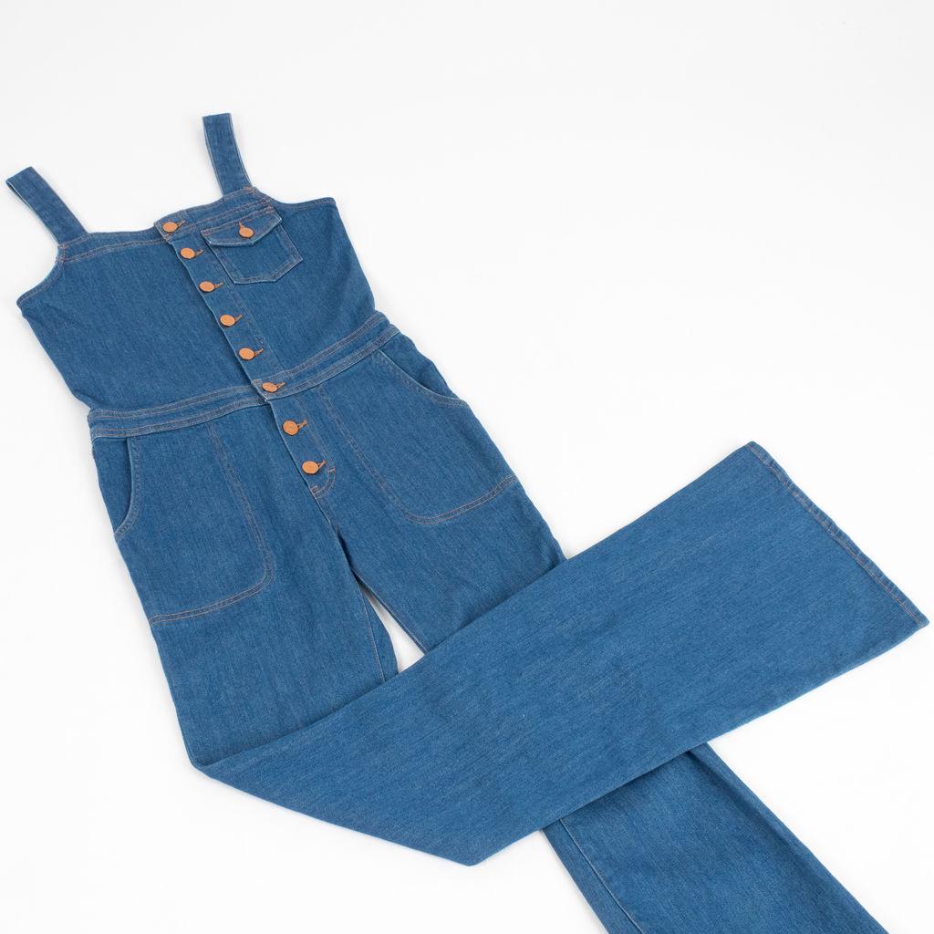 M.i.h Jeans The Dix Stretch Denim Flared Overalls