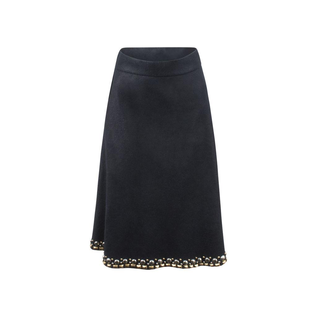 1950s Studded Vintage Wool Skirt