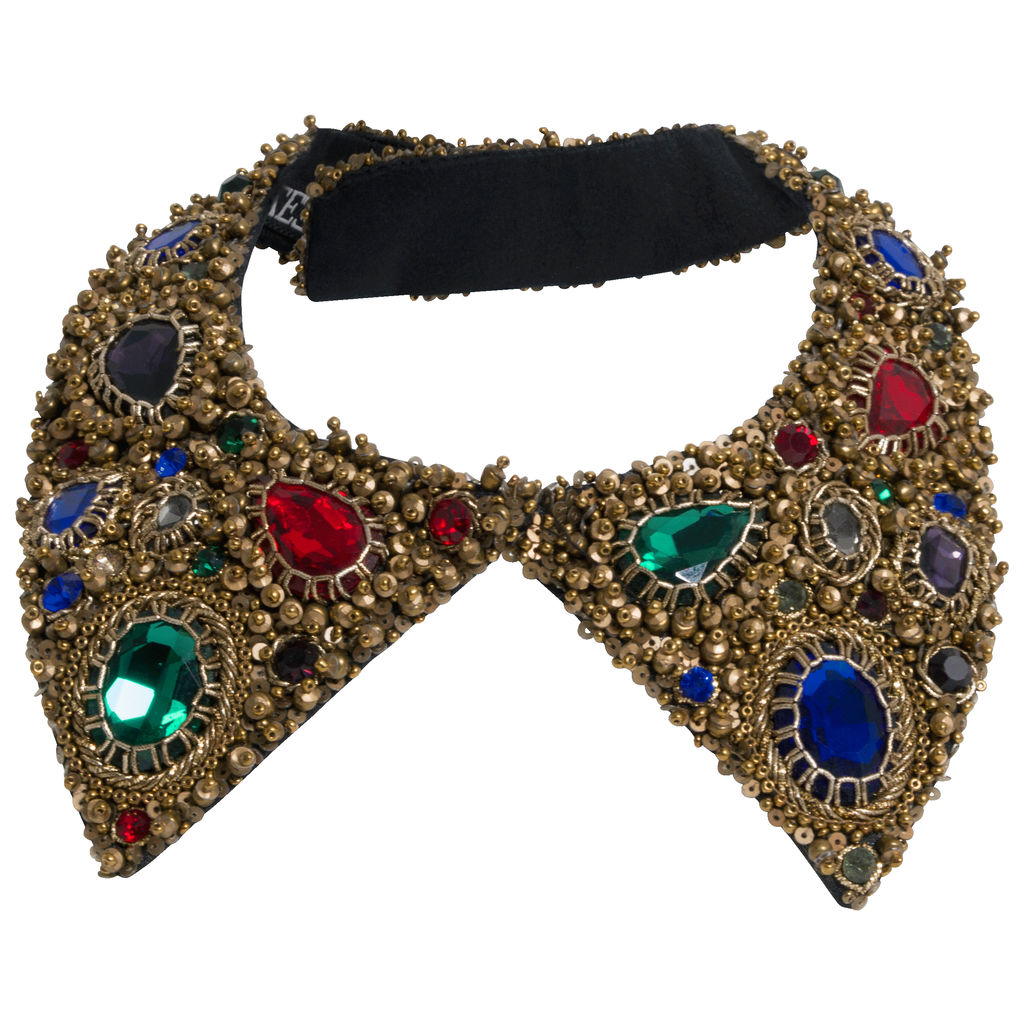 Azeeza Multi Color Embellished Shirt Collar