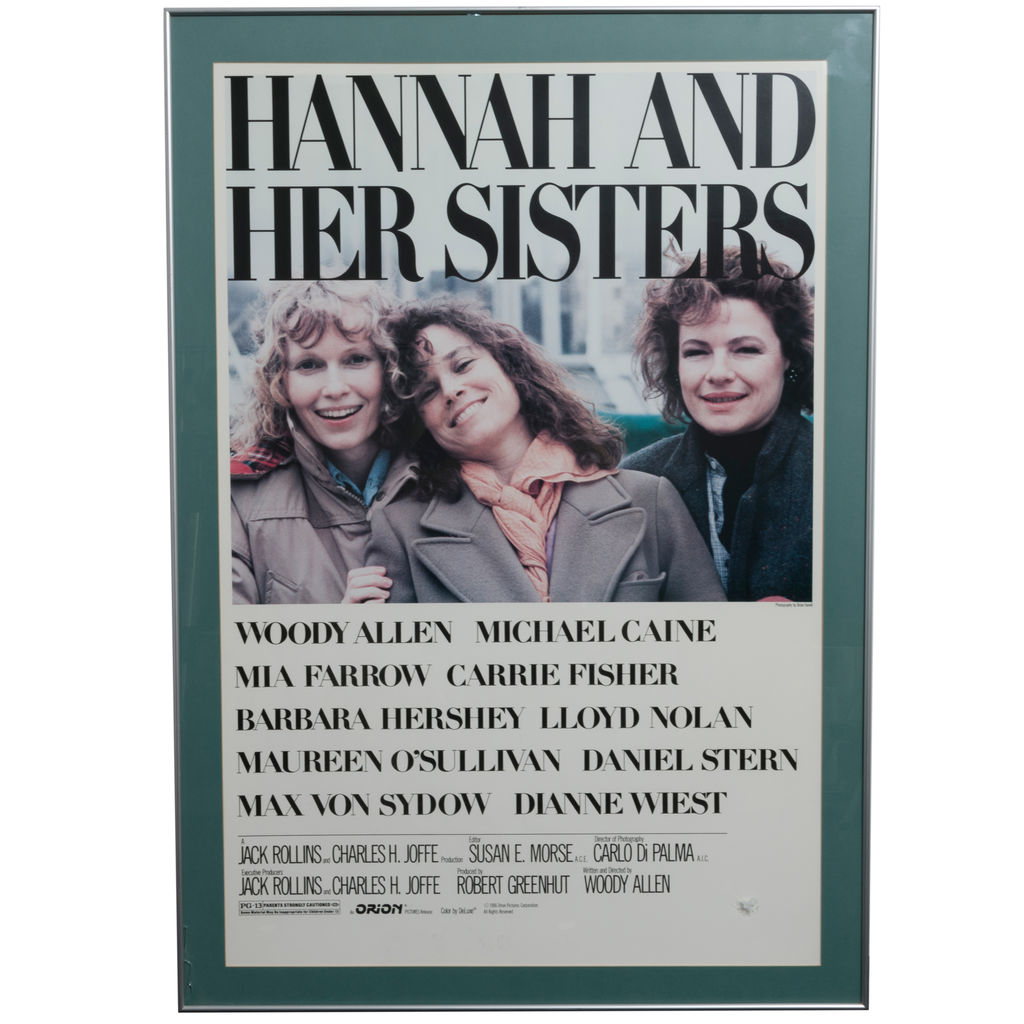 """Hannah And Her Sisters"" 1986 Framed Movie Poster"