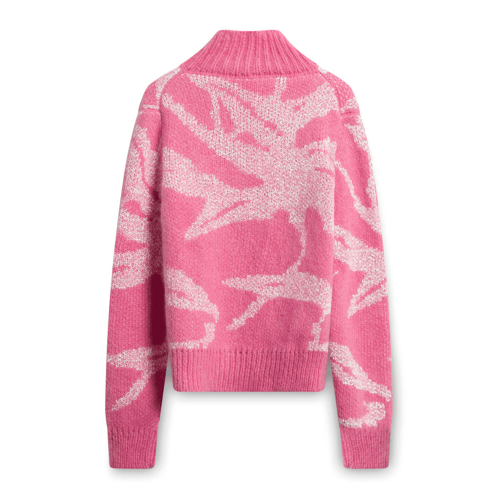 Vintage Tory Burch Turtleneck Sweater - Pink/White