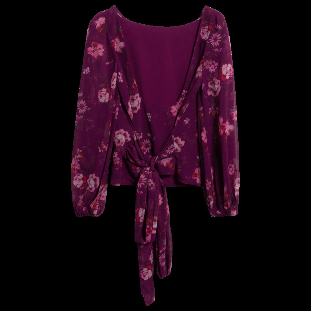 LPA Dree Floral Puff-Sleeve Top