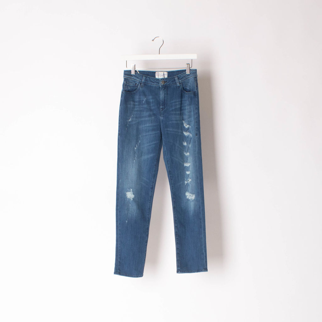 The Seafarer Distressed Skinny Jeans