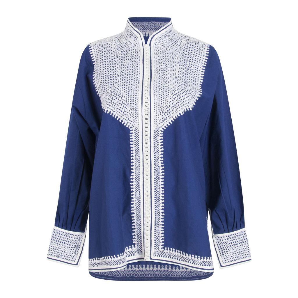 Vintage Kaftan Jacket- Royal Blue