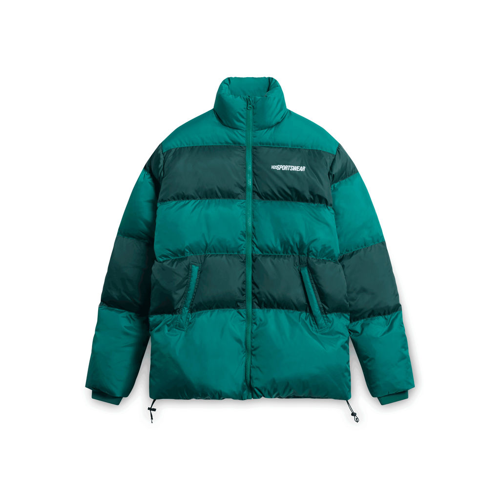 H2O Sportswear Striped Puffer Jacket - Green