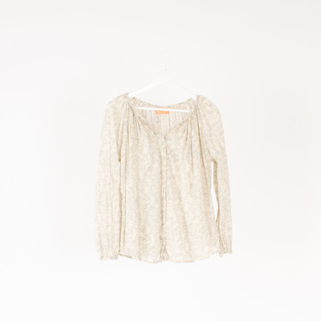 Ba&sh All-Over Print Blouse curated by Samantha Jo Alonso