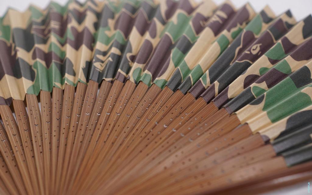 BAPE ABC Camo Folding Fan