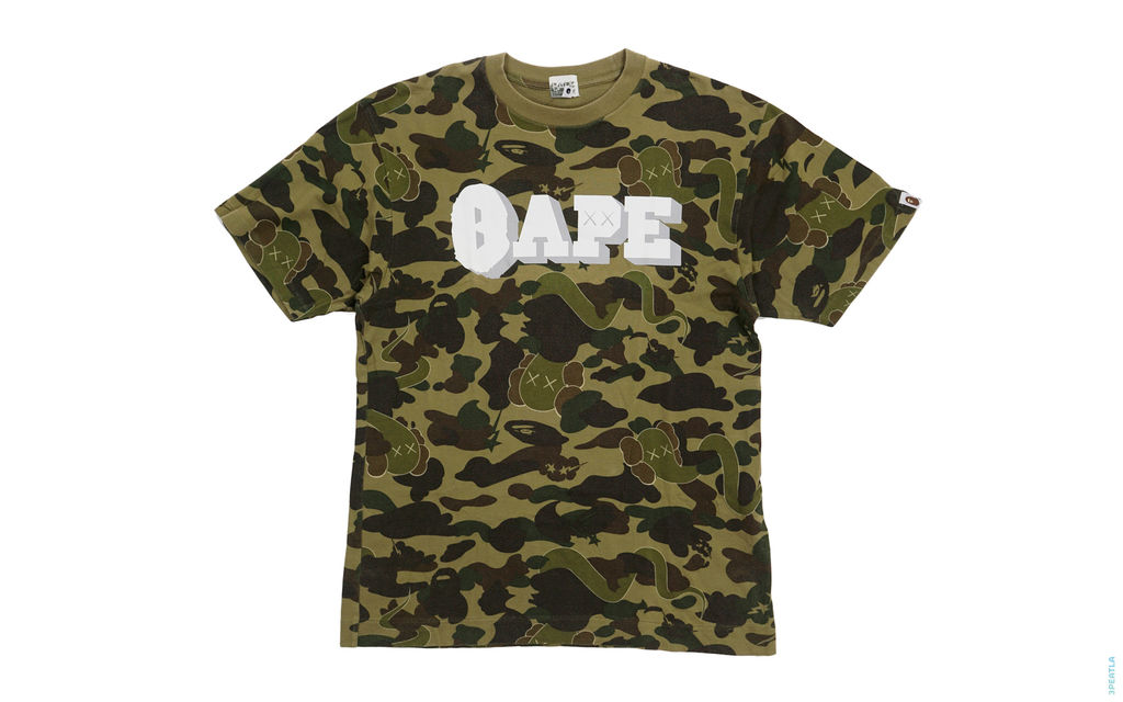 Bendy 1st Camo Raised Bape Logo Tee