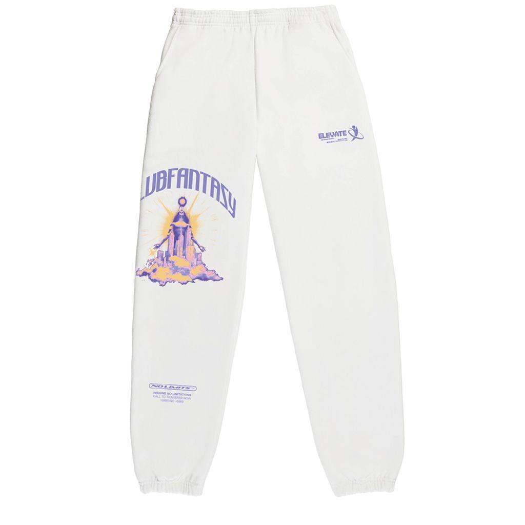 Club Fantasy Future Gaze Sweatpants in White